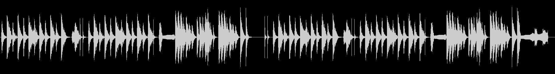 劇伴 シンプル 日常 ネコの鳴き声入の未再生の波形