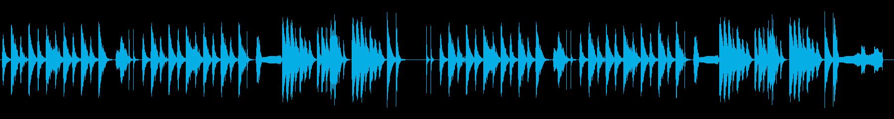 劇伴 シンプル 日常 ネコの鳴き声入の再生済みの波形
