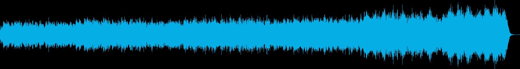 湖のさざ波のようなミステリアスな曲の再生済みの波形