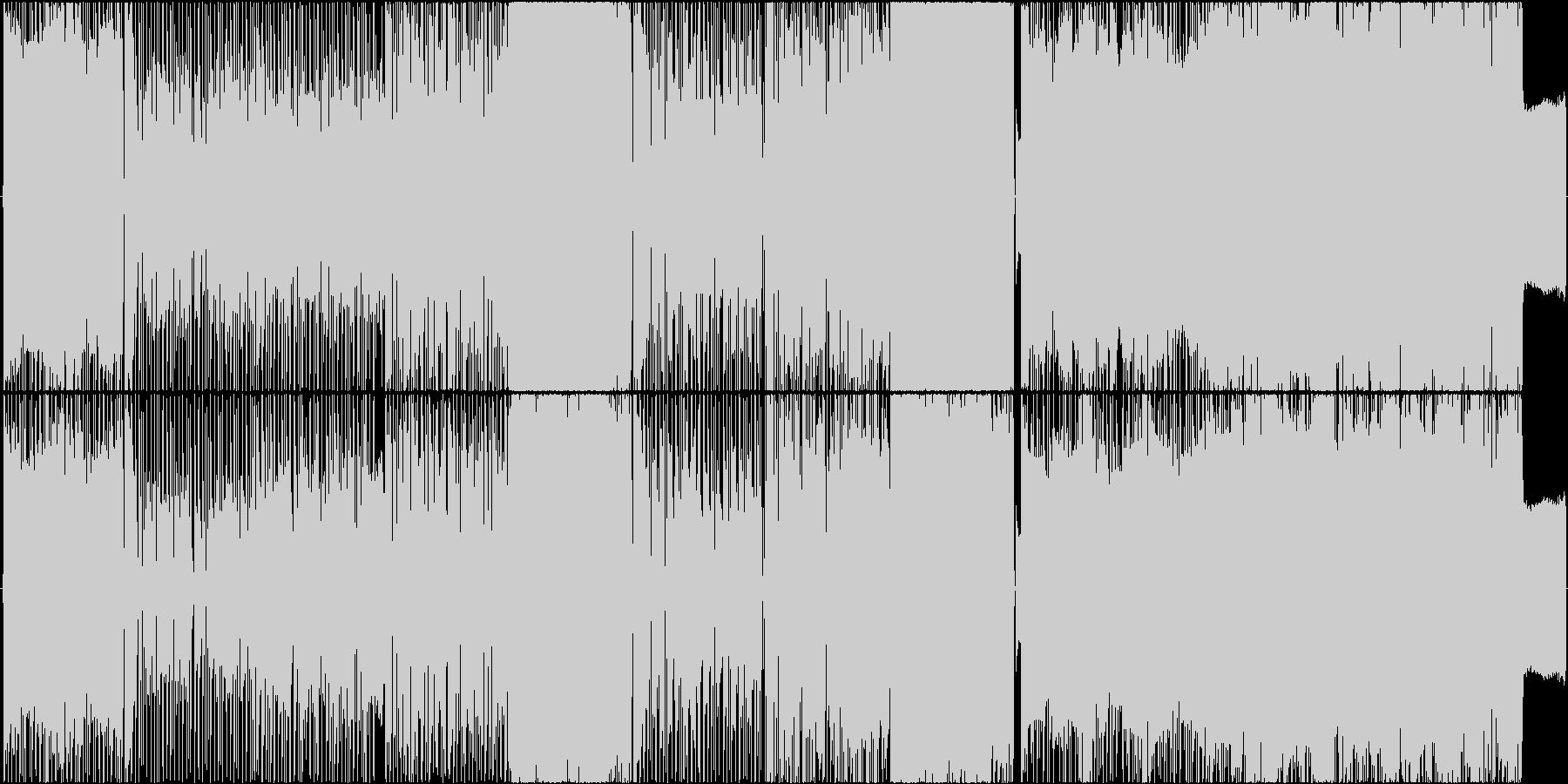 4ピースのロック、コーラス、ベースソロの未再生の波形