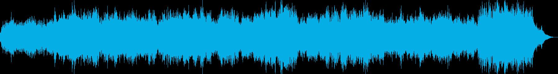 和風な雰囲気の癒し系サウンドの再生済みの波形