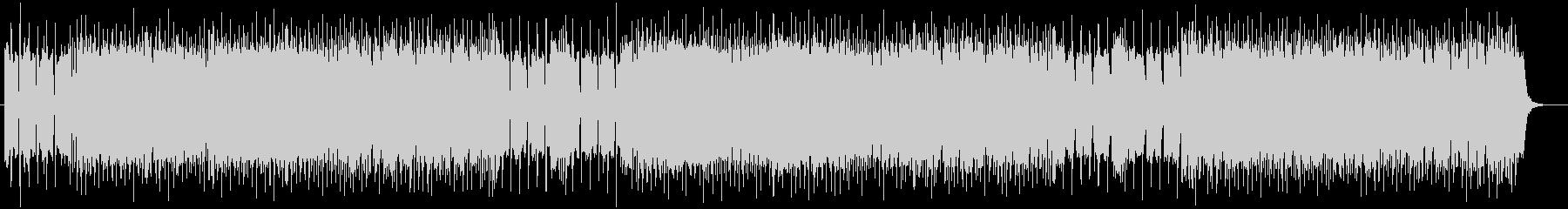 激しく疾走感のあるシンセギターサウンドの未再生の波形