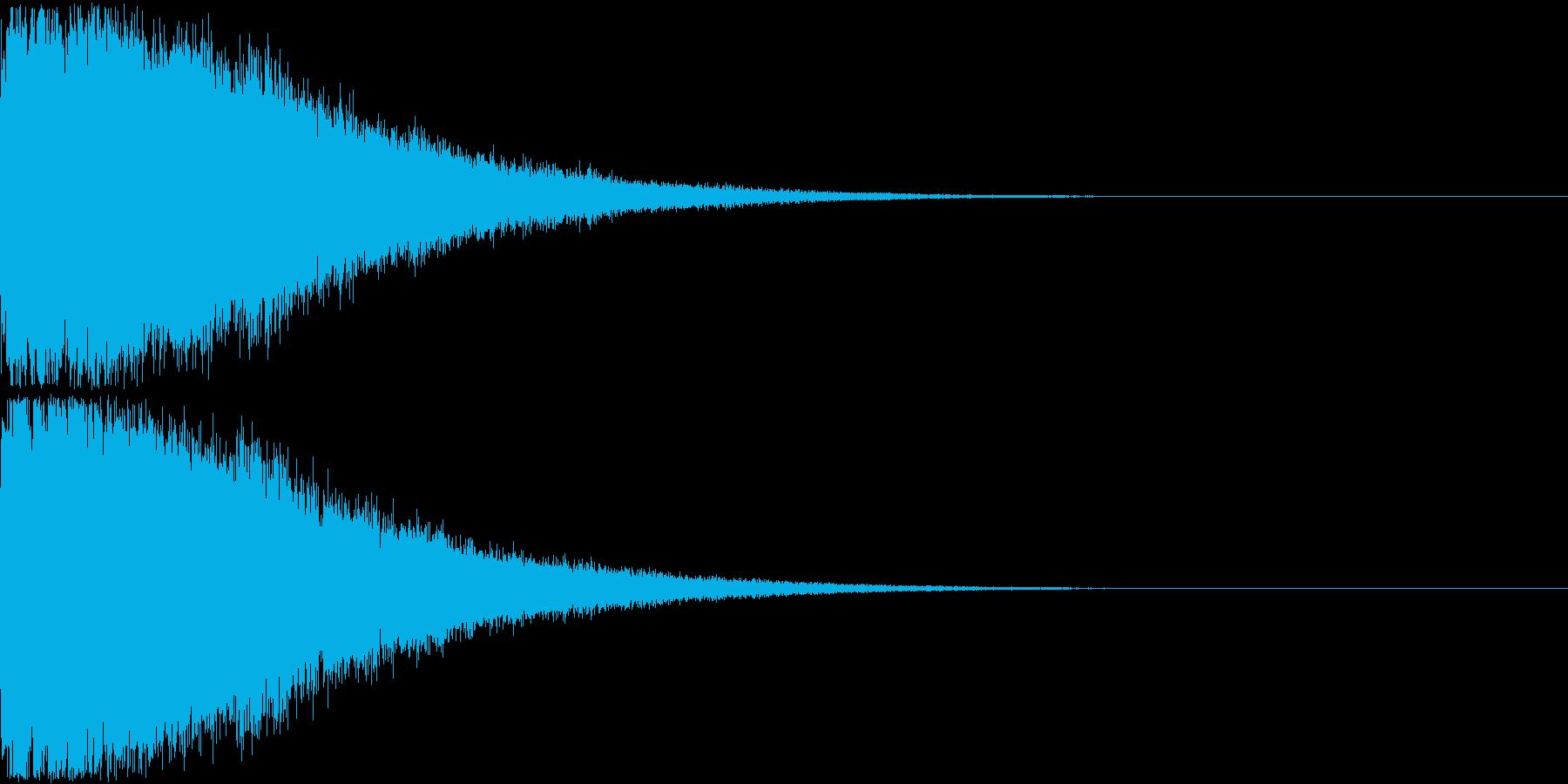 刀 剣 ソード カキーン キュイーン12の再生済みの波形