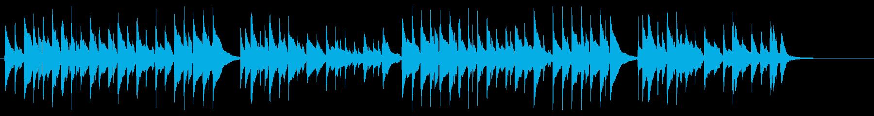ゆっくりとした時間の流れを感じるギター曲の再生済みの波形
