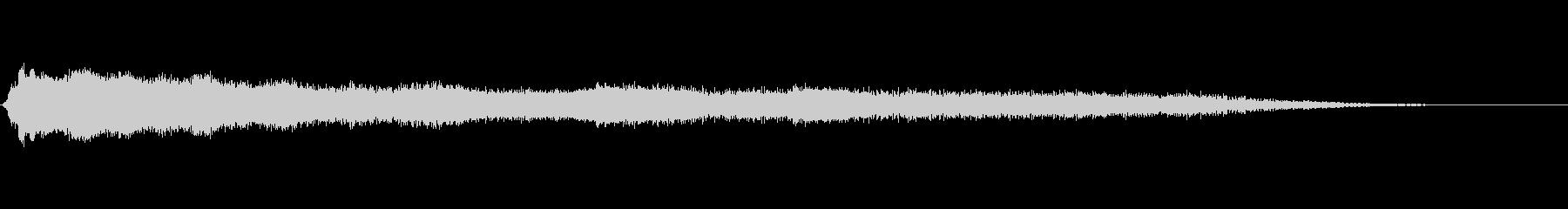 「ヒューン」シンセサイザーによる落下音の未再生の波形