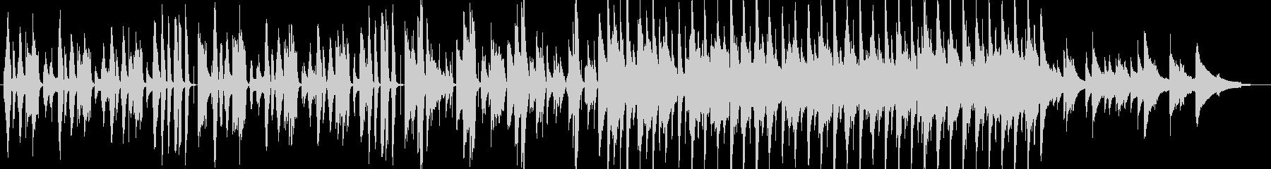 ピアノと鍵盤ハーモニカによる軽快なジャズの未再生の波形