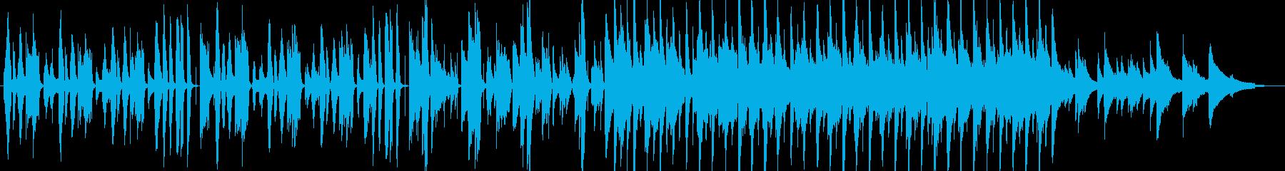 ピアノと鍵盤ハーモニカによる軽快なジャズの再生済みの波形