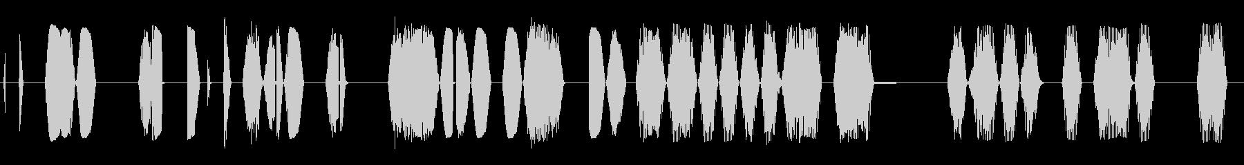 スタッタードシグナル干渉スイープ2の未再生の波形