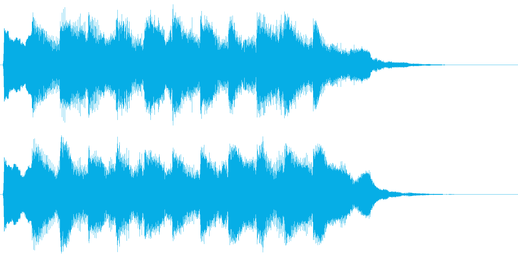 8bit レベルアップ ゲームクリア音の再生済みの波形