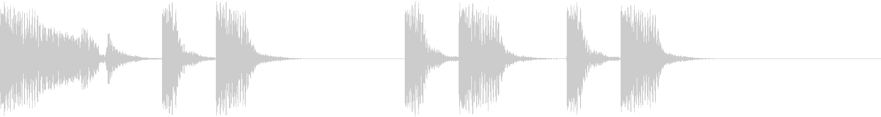 ドゥバドドッドドッドドの未再生の波形