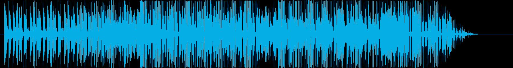テクニカルなスラップベースの再生済みの波形