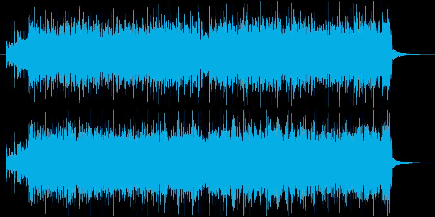 爽やかで突き抜けるようなジングルの再生済みの波形