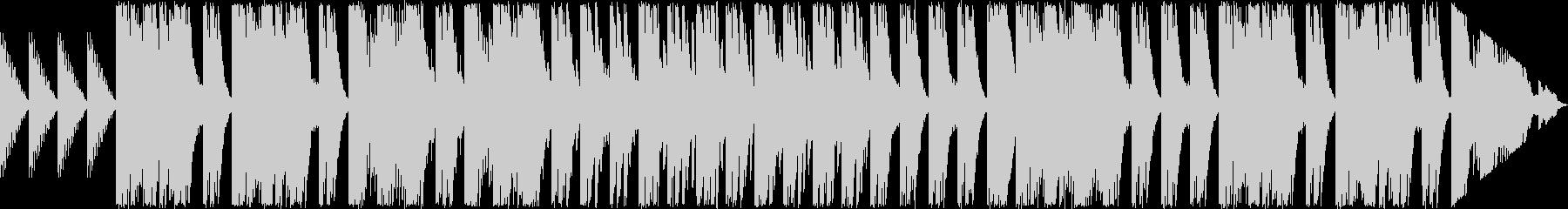 ベルを使った幻想的な曲の未再生の波形