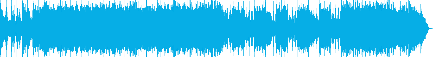 疾走感あふれるパンクロック風オープニングの再生済みの波形