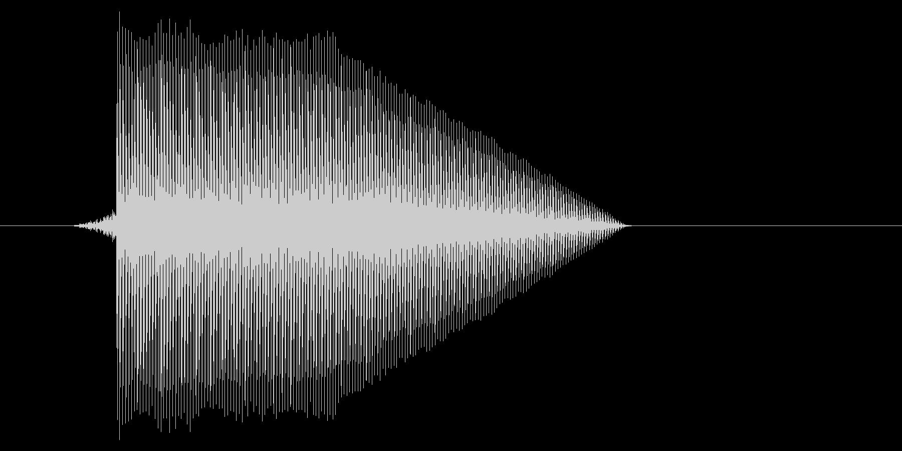 ゲーム(ファミコン風)ジャンプ音_046の未再生の波形