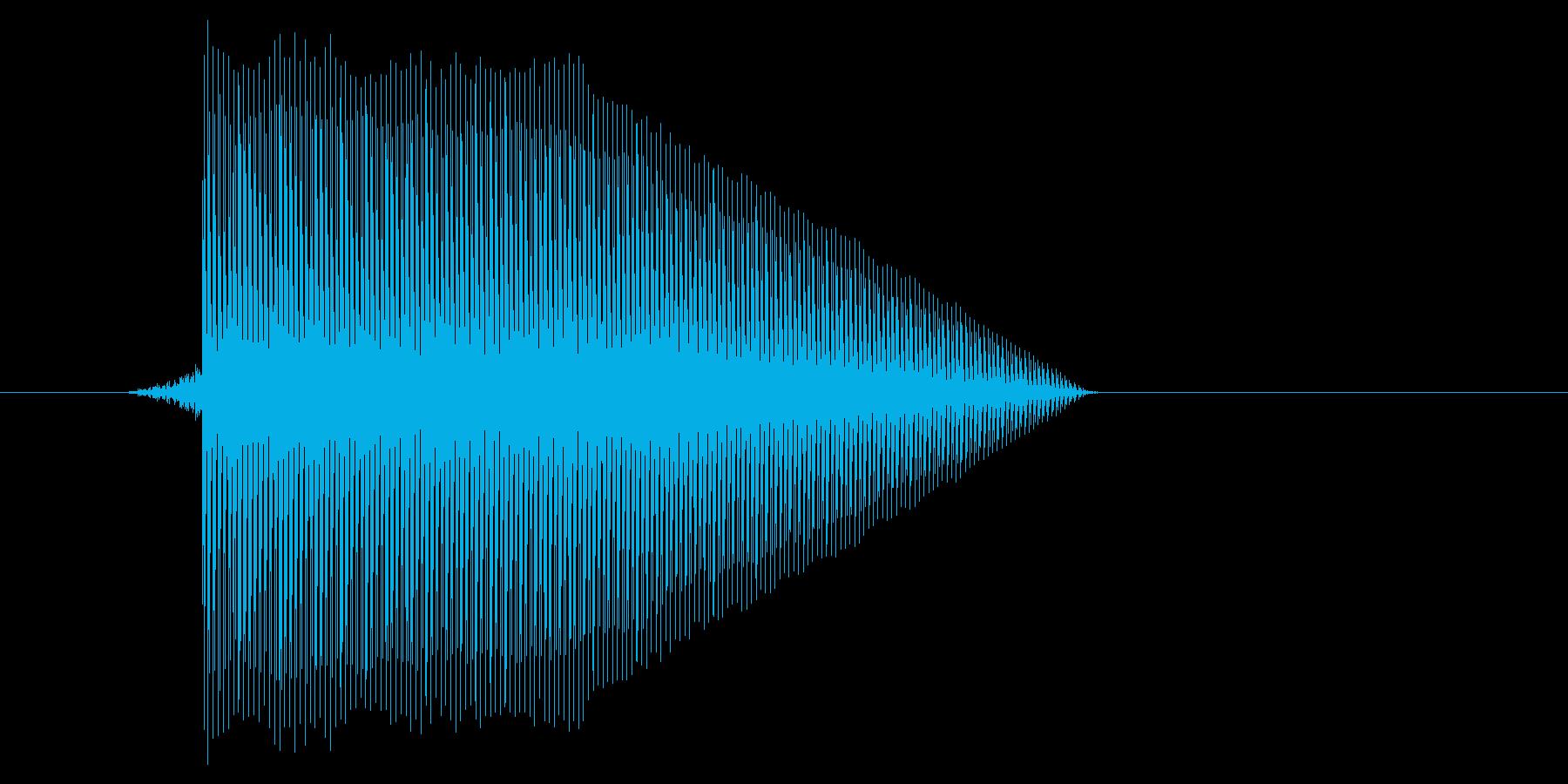 ゲーム(ファミコン風)ジャンプ音_046の再生済みの波形