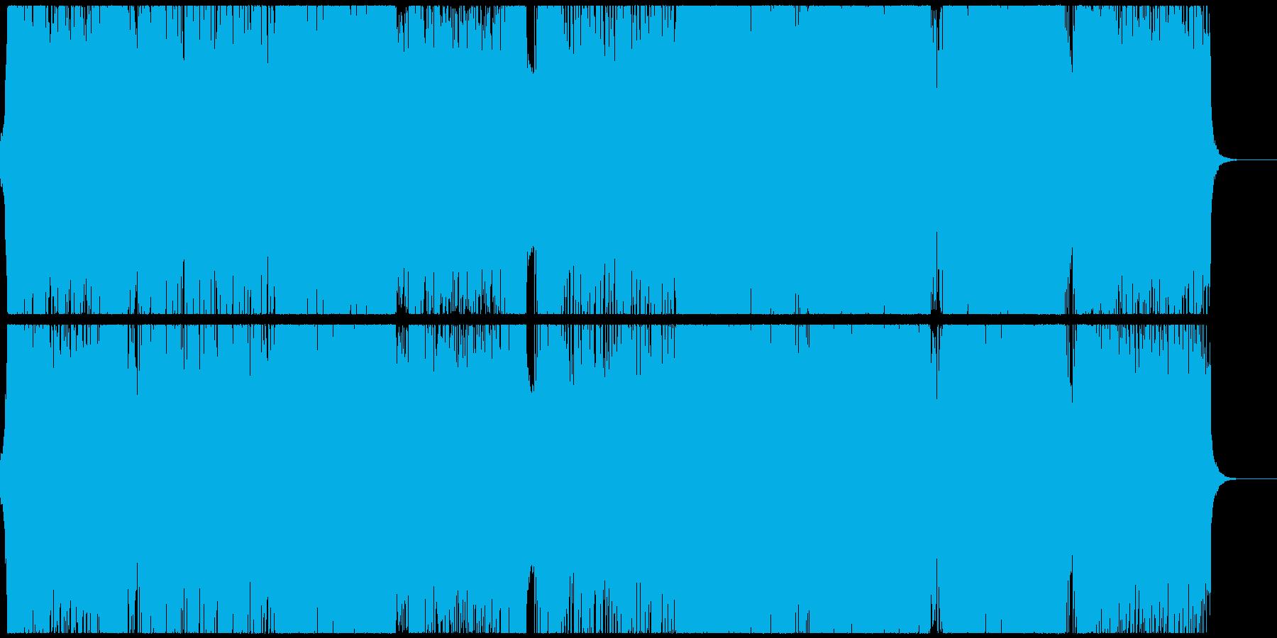 パワフルで疾走感のあるクールなEDMの再生済みの波形