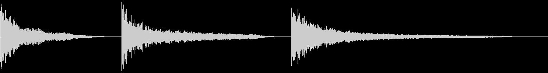 金属の影響、深くて長いX3の未再生の波形