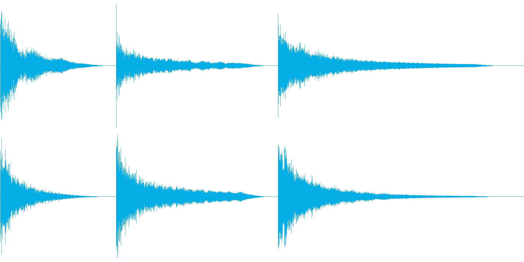 金属の影響、深くて長いX3の再生済みの波形