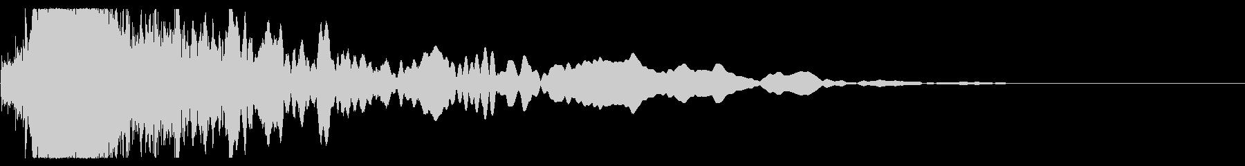 インパクト、メタル、シング、サイファイの未再生の波形