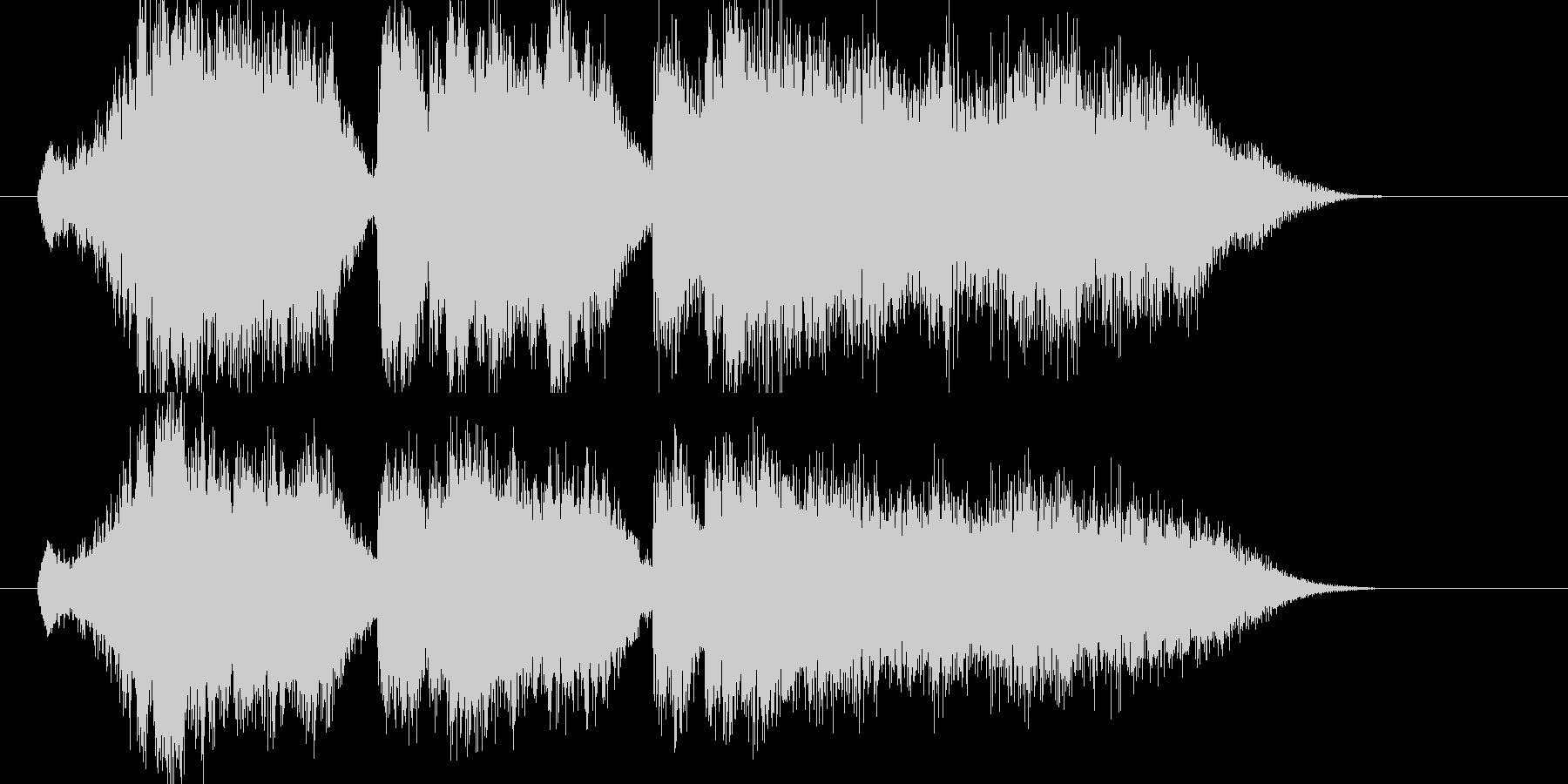 衝撃的なシンセ・シンバルのサウンドの未再生の波形