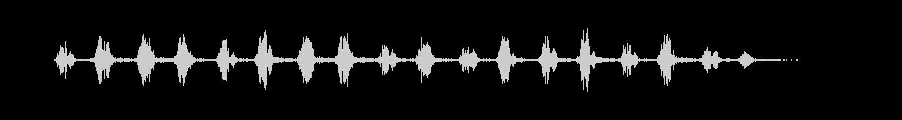 ピヨピヨという鳥の鳴き声や混乱状態のSEの未再生の波形