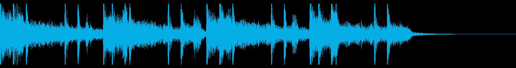 お洒落でクールなネオソウルジングルの再生済みの波形