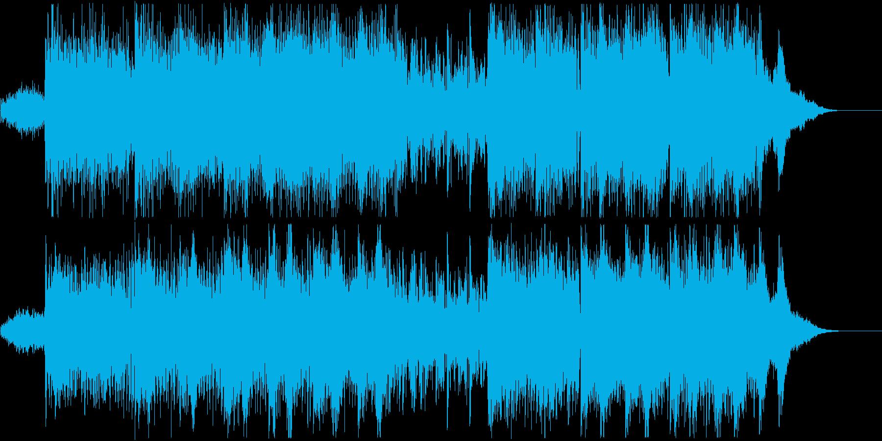 現代的なエレクトロビートとピアノの音色での再生済みの波形