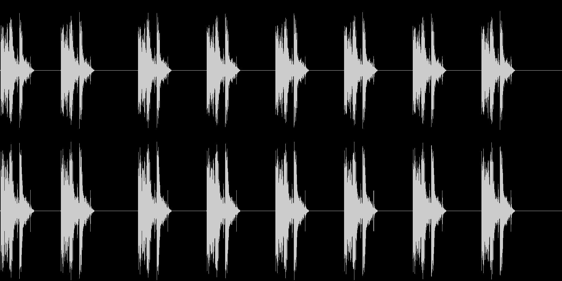 ガラスが割れる音の未再生の波形