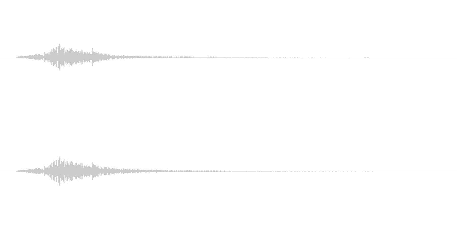 ハープグリッサンド上行1回~C7の未再生の波形