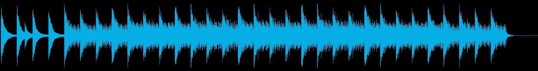 ポジティブで感動的な雰囲気の曲の再生済みの波形