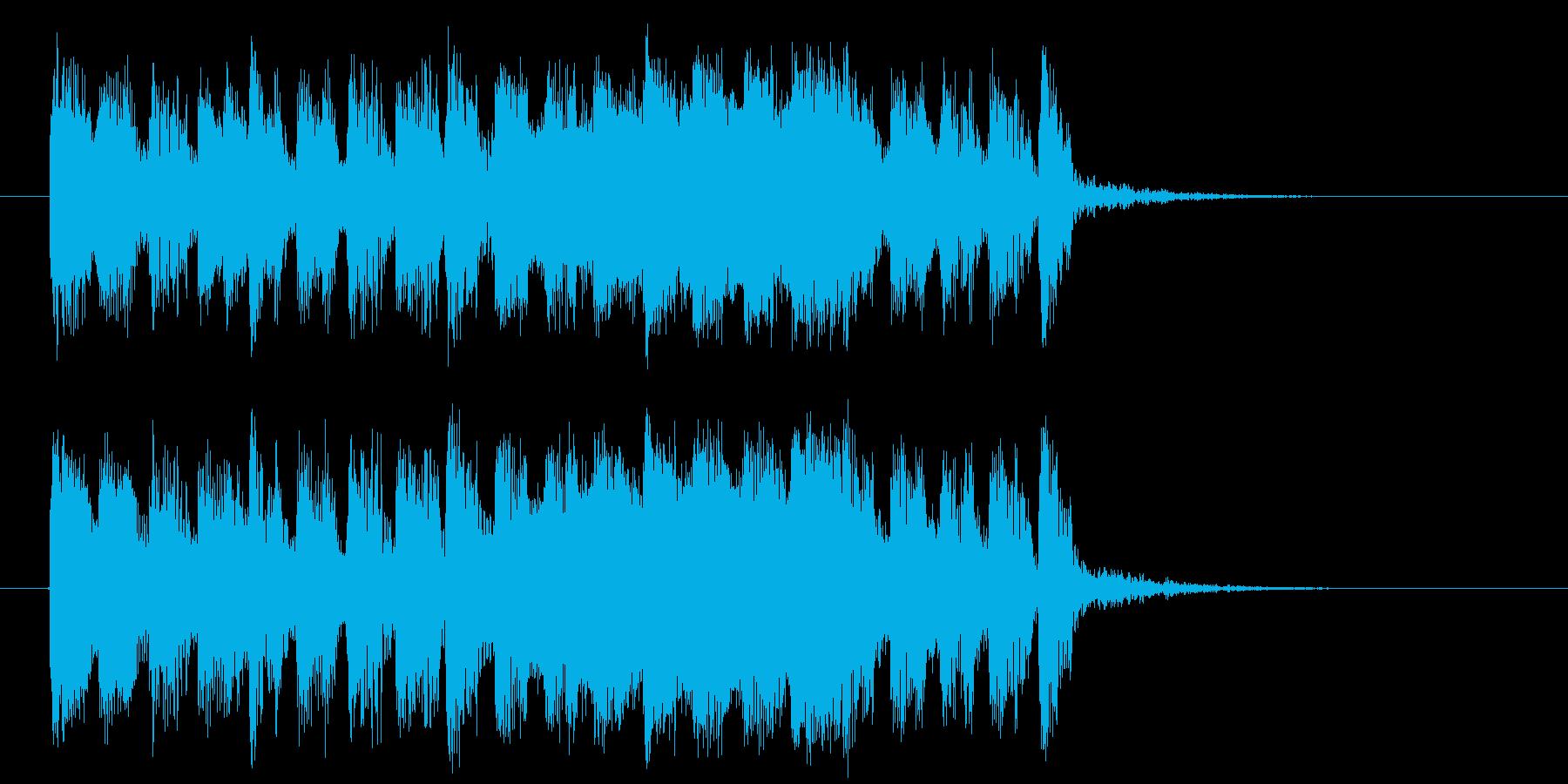 勢いと迫力のエレキとトランペットジングルの再生済みの波形
