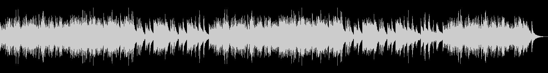 懐かしく切ない印象の和風ピアノソロBGMの未再生の波形