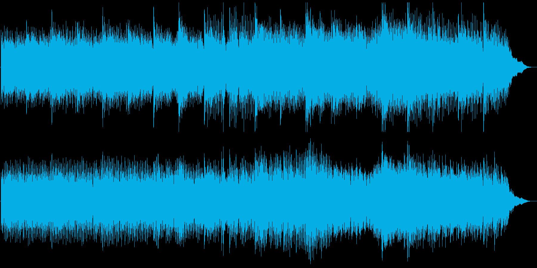 ピアノアンビエントで癒しヒーリング感動的の再生済みの波形