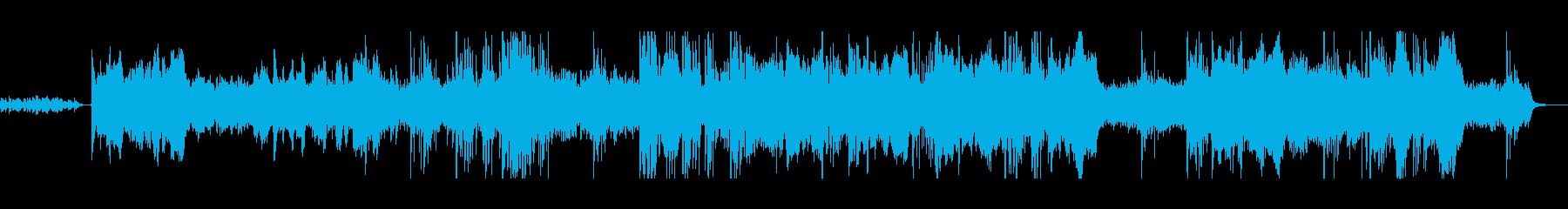 木管楽器を使用したアンビエントの再生済みの波形