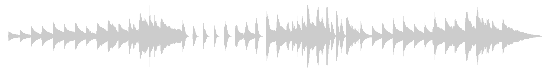きらきら星 変奏9(リピート無し)の未再生の波形