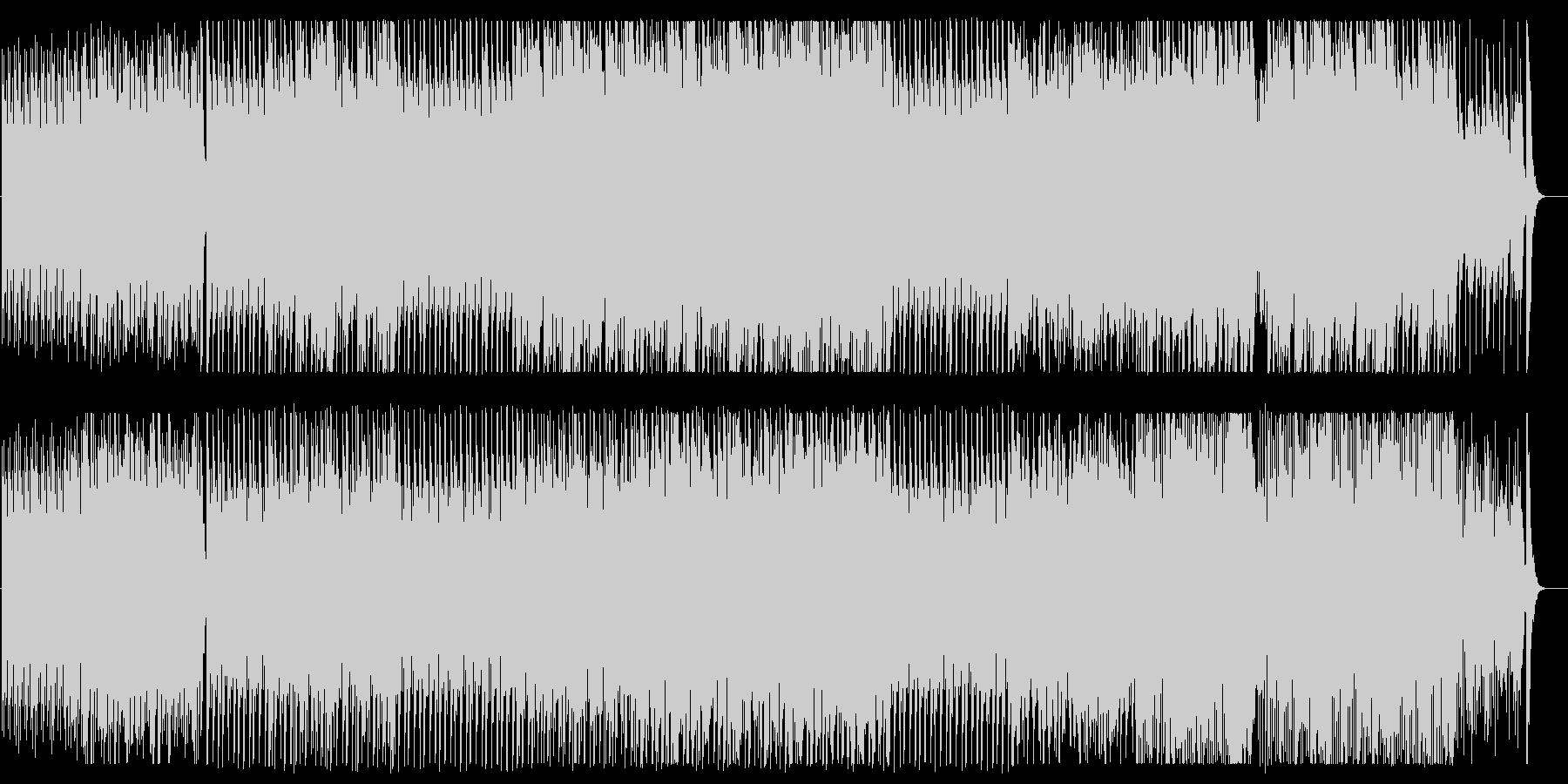 疾走感とドキドキ感のある弦管楽器サウンドの未再生の波形