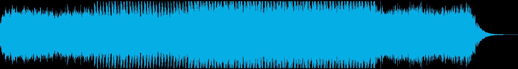 テクノポップなBGMの再生済みの波形