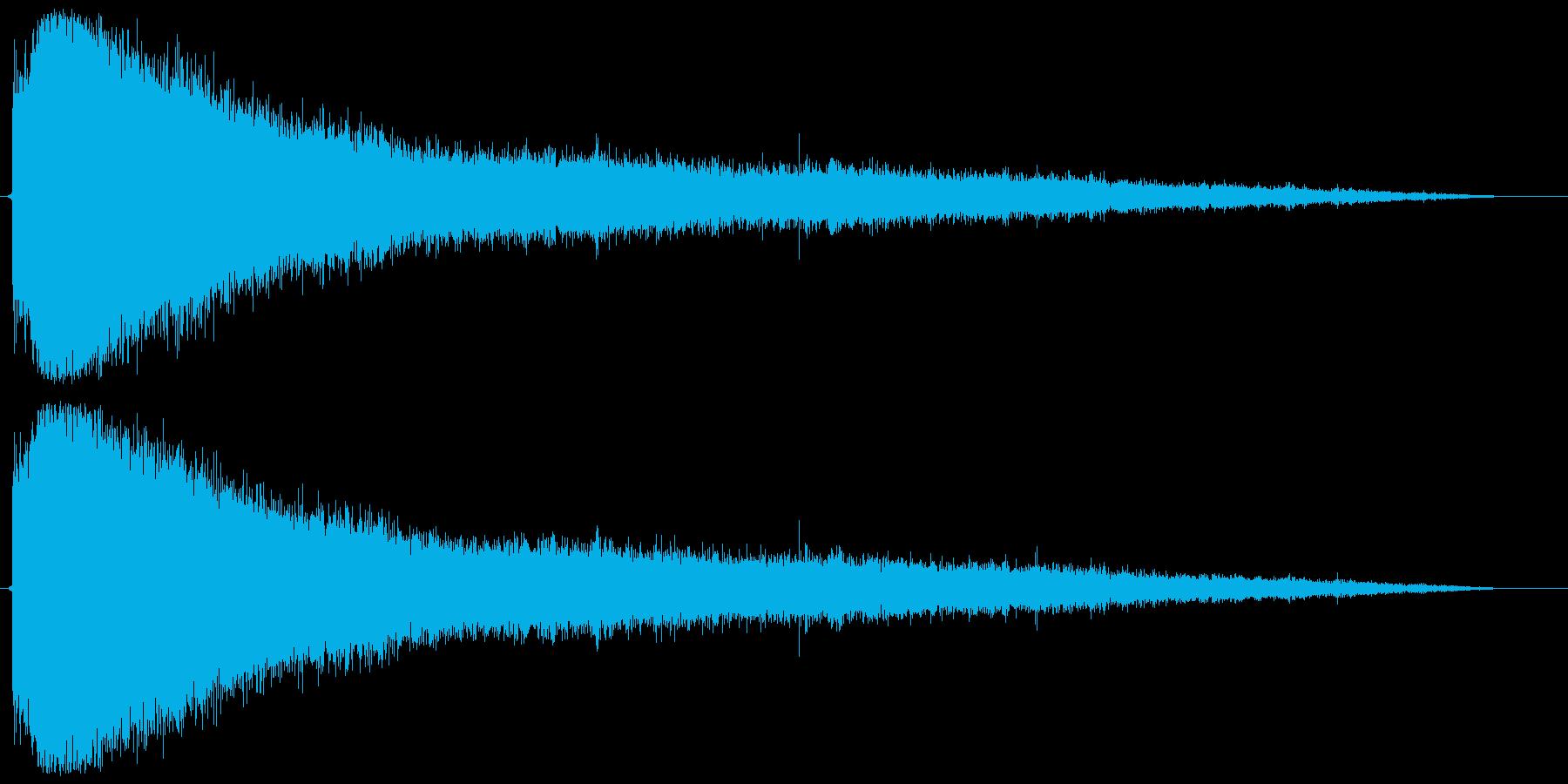 蒸発、蒸気 (長い) ジュワァァァ… の再生済みの波形