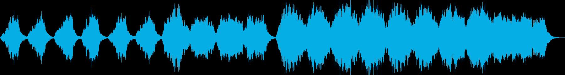 サスペンス向きの美しいストリングス曲の再生済みの波形