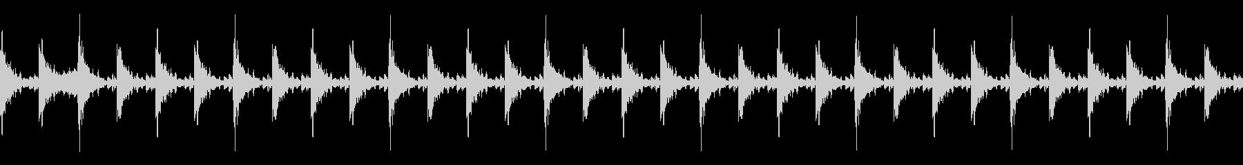 太鼓 躍動的 迫力 効果音ループ素材#1の未再生の波形