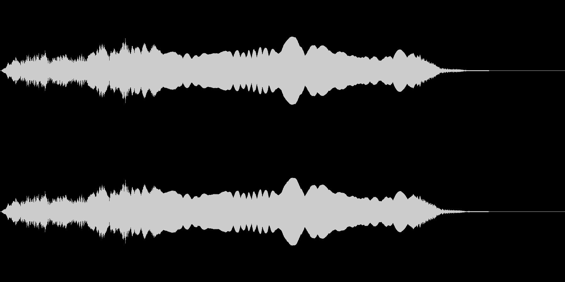 ウゥゥーーーー(サイレン・警報)の未再生の波形