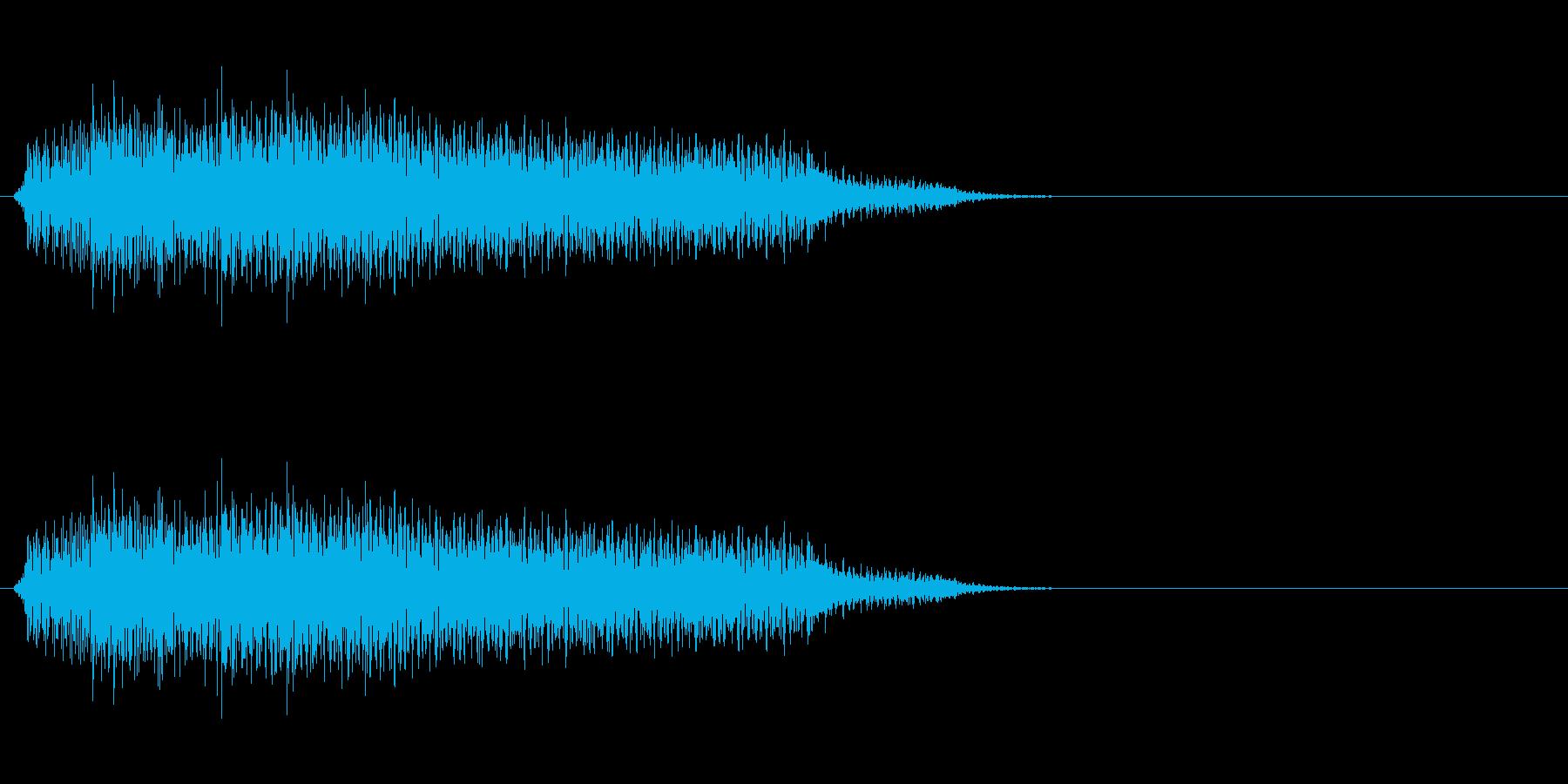 何か不吉な事が始まるイメージですの再生済みの波形