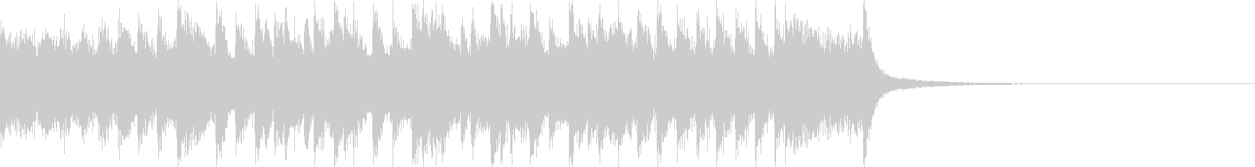 クイズの考え中、シンキングタイム用BGMの未再生の波形
