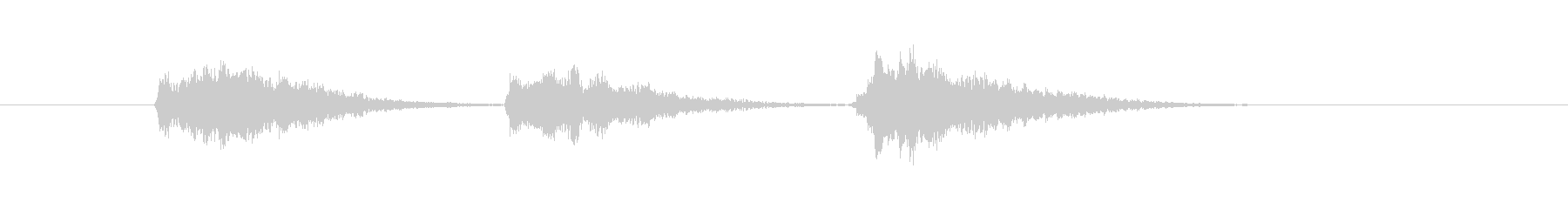 ゲーム等、開始前カウント(3-2-1)Dの未再生の波形
