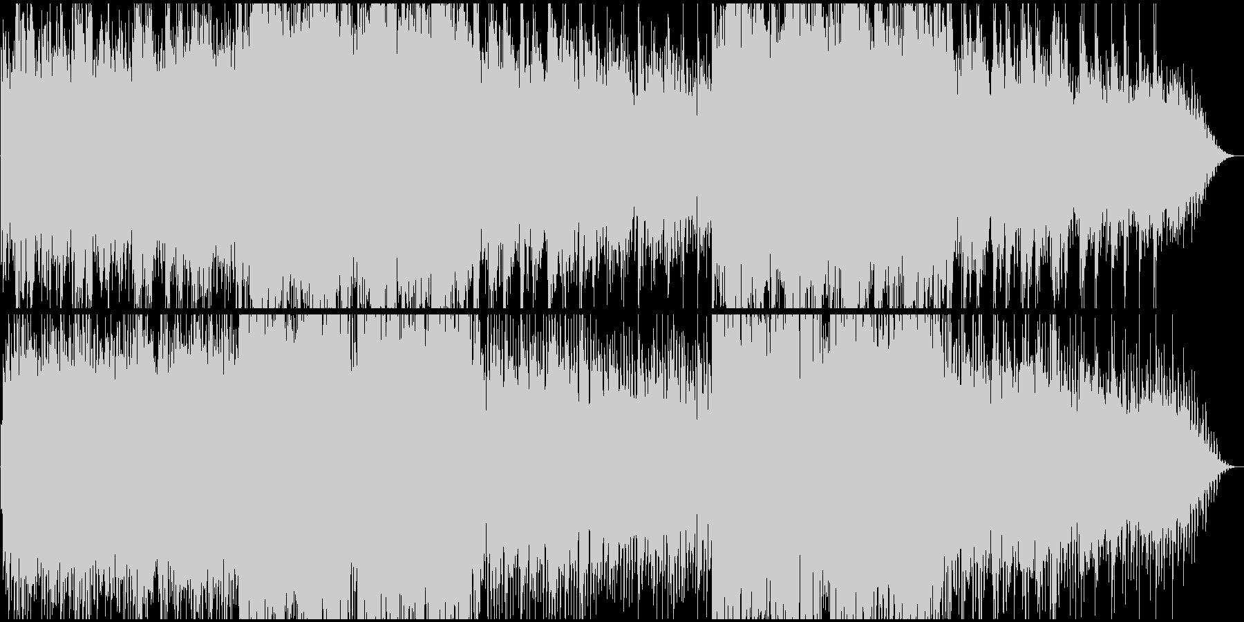 明るく期待感溢れる楽園イメージのBGMの未再生の波形