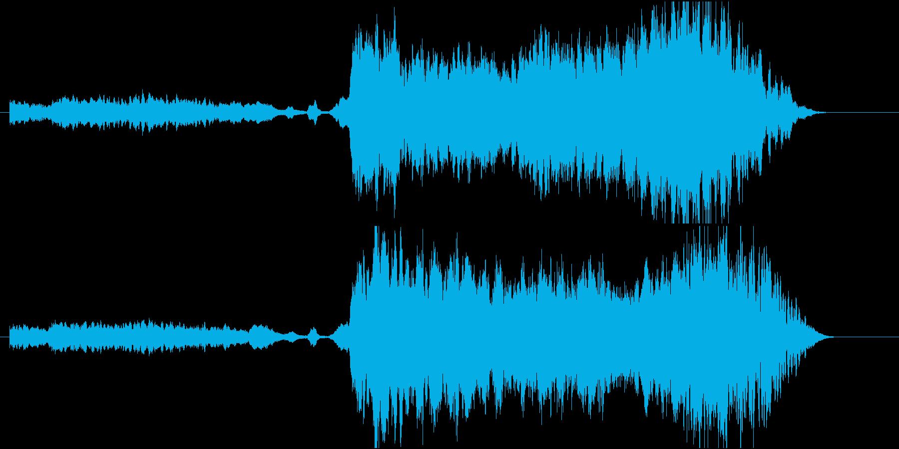 バイオリンの音の場面転換用楽曲01の再生済みの波形