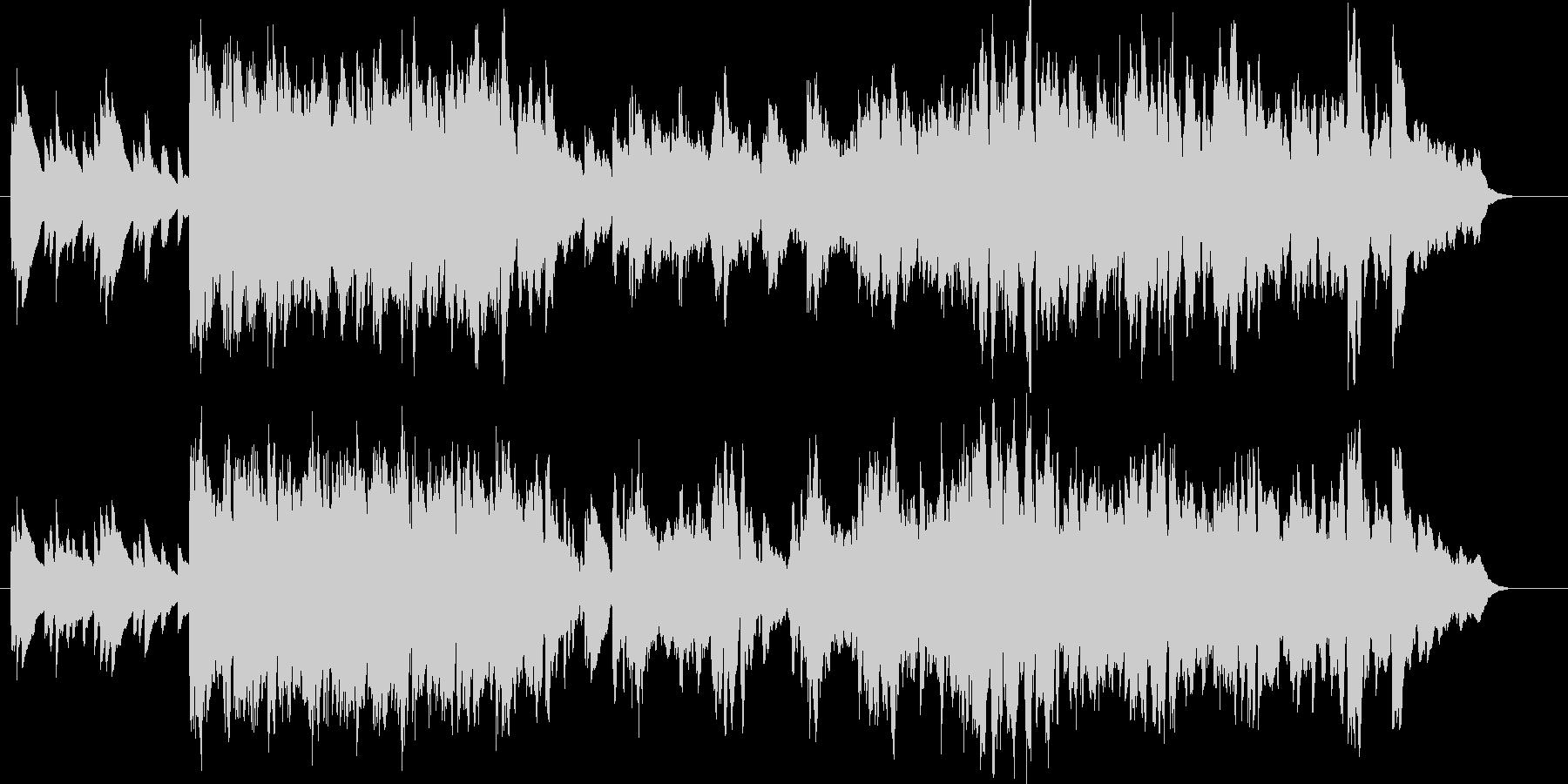 ピアノの明るい伴奏が基調の軽快な曲です。の未再生の波形