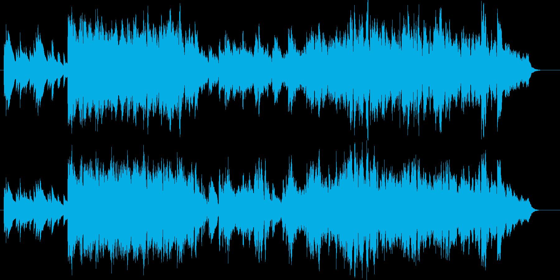 ピアノの明るい伴奏が基調の軽快な曲です。の再生済みの波形