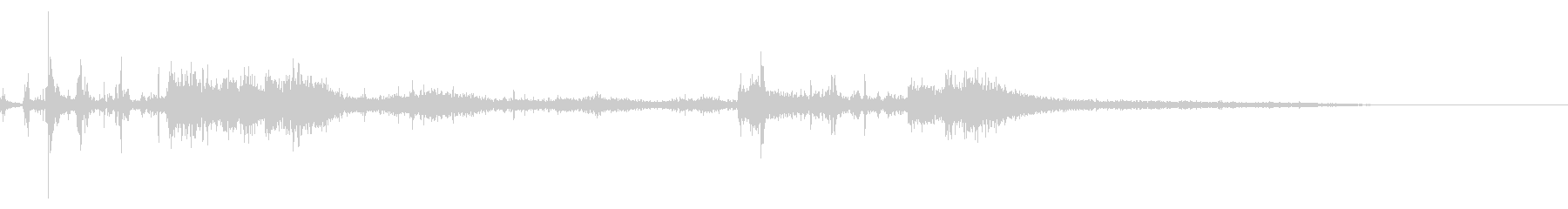 カミナリ(遠雷)-30の未再生の波形